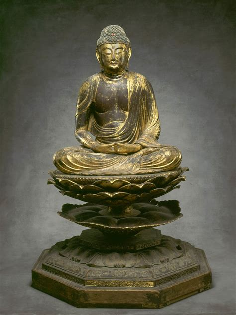 japanese buddhist seated amitabha buddha amida nyorai article khan academy