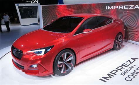 subaru hybrid sedan turbo hybrid powertrain rumored for subaru wrx sti