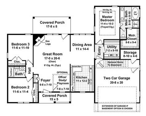 Houseplans 120 187 by Ranch Style House Plan 3 Beds 2 Baths 1700 Sq Ft Plan