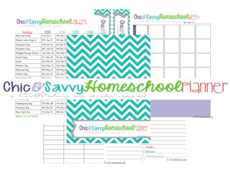 homeschool planner printable free 2013 2014 homeschool planner and meal planner free