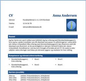 3 Cv Skabeloner I Word Jobs 248 Gning P 229 Jobcenterindsats