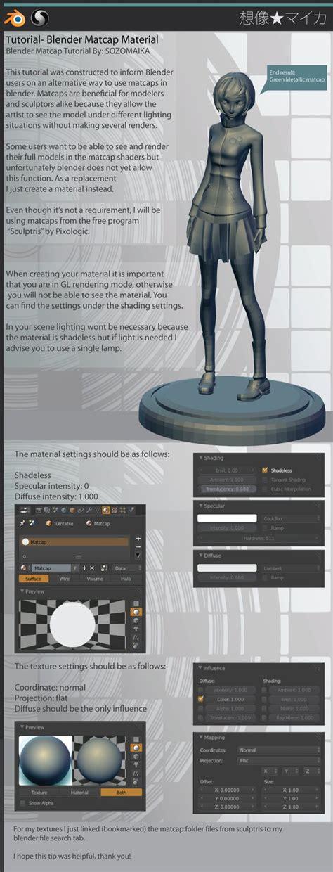 tutorial blender render blender matcap material tutorial by sozomaika on deviantart