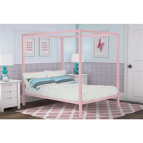 pink canopy bed hillsdale furniture dover textured black full canopy bed 348bfpr the home depot