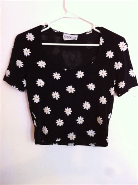 Top Crop Flower t shirt flowers floral 90s style grunge 90s