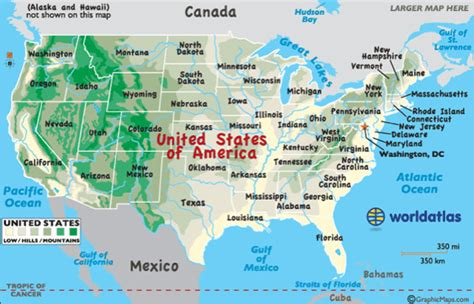 map of the united states with landforms us landform map