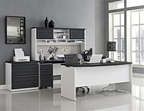 Altra Pursuit U Shaped Desk With Hutch Bundle by Ameriwood Home Pursuit U Shaped Desk With Hutch Bundle