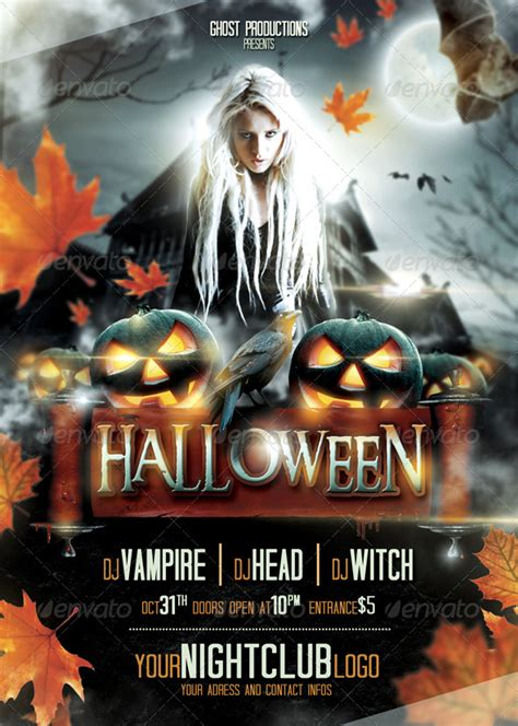 halloween templates for flyers free 20 free psd halloween flyer templates free psd templates