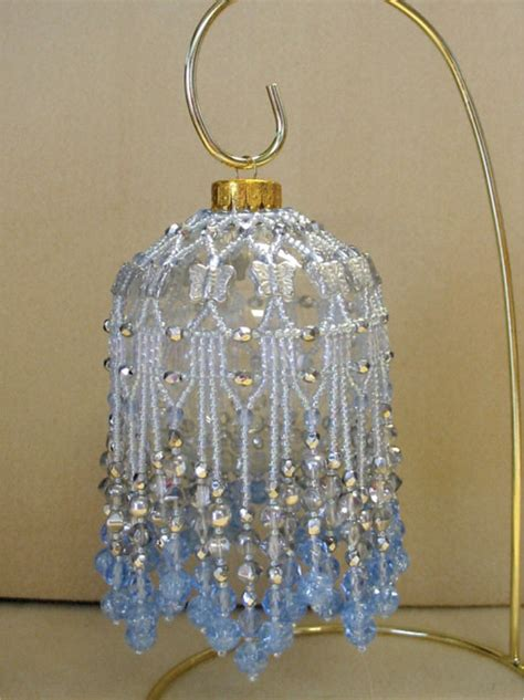 beaded ornament cover patterns free beaded fancy fringed ornament cover beading
