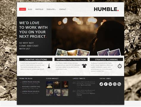 drupal 7 themes photo gallery humble premium drupal 7 theme for business websites