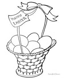 easter basket coloring pages free coloring pages of pictures easter