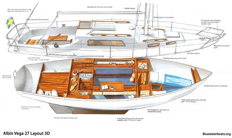 small yacht layout the albin vega 27 sailboat bluewaterboats org