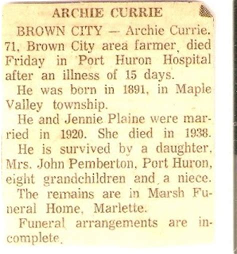 s genealogy my research on archie currie