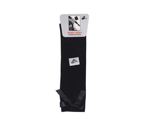 Bow Socks black knee high bow socks whittakers school wear