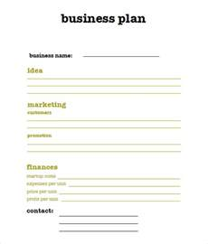 business plan template free sle sba business plan template 9 free documents in