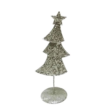 metal contemporary christmas ornament chagne silver