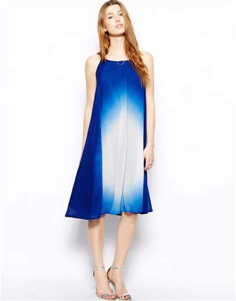 halter neck swing dress french connection sun gaze halter neck silk swing dress in