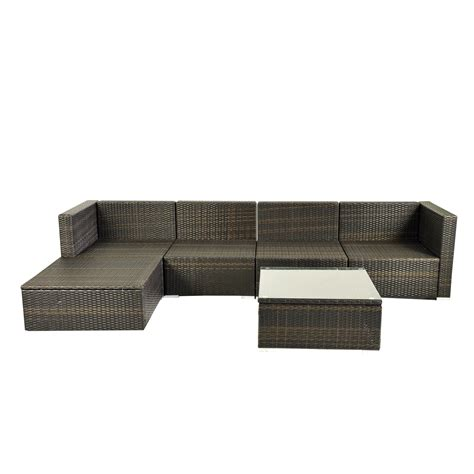 rattan sofa set ebay deluxe 6pc outdoor rattan wicker sofa garden sectional