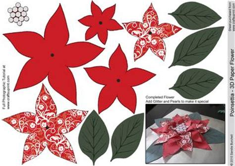 paper poinsettia flowers pattern 13 best photos of 3d paper poinsettia pattern 3d paper