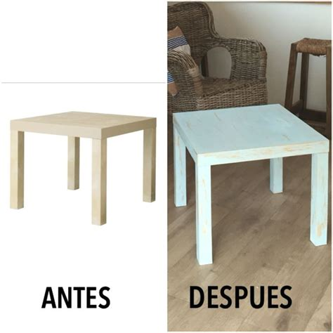 chalk paint muebles ikea mesa lack ikea pintada con chalk paint ideas para el