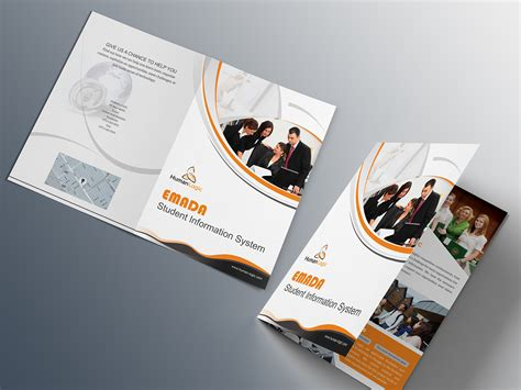 3 fold brochure template psd free free bi fold brochure psd on behance