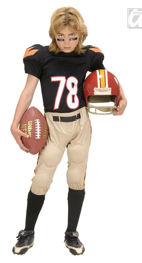 boys american football player costume fancy dress forever