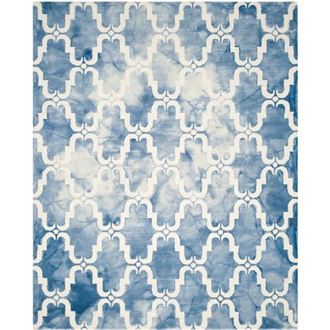 blue area rug 8 x 10 safavieh dip dye blue ivory 8 ft x 10 ft area rug ddy536k 8 the home depot