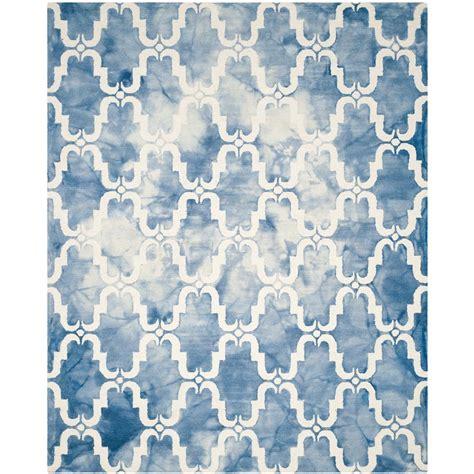 10 X 13 Blue Ivory Rug - safavieh dip dye blue ivory 8 ft x 10 ft area rug