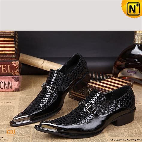 trendy mens pointed toe dress shoes black cw751539