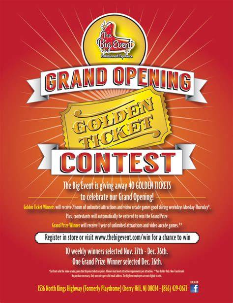 Contest The Lush Golden Ticket by Golden Ticket Contest The Big Event