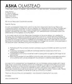 human resources coordinator cover letter sample livecareer