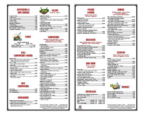 restaurant menus usa perfect imaging top quality low