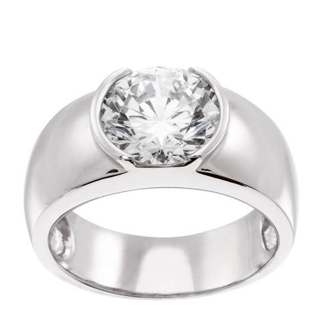 Engagement Ring Low Cost Alternative by Simple Clean Lines This Classic