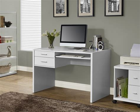 white hollow desk white hollow computer desk with 2 side drawers