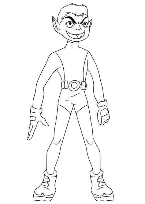 teen titans go beast boy coloring pages beast boy coloring pages page in grig3 org
