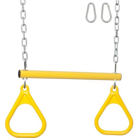 trapeze bar for swing set swing set stuff trapeze bar rings with uncoated chain