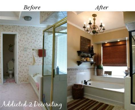bathroom makeovers before and after pictures master bathroom makeover on a budget