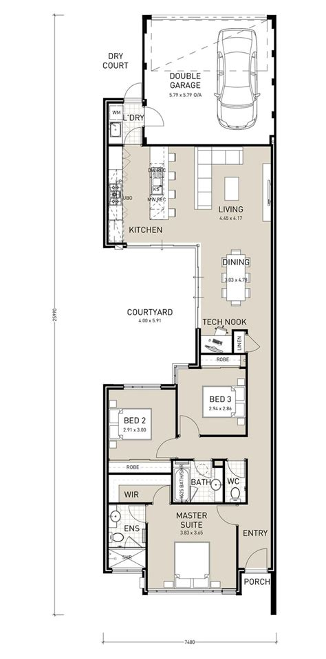 Floor Plans Narrow Lot | 25 best ideas about narrow lot house plans on pinterest