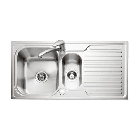 inset stainless steel kitchen sinks caple dove 150 stainless steel sink drainer sinks taps com