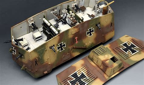 Home Interior Collectibles by Meng 1 35 German A7v Tank Krupp Mmts017
