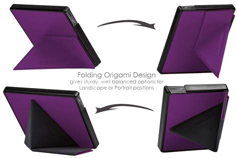 Kindle Origami Cover - forefront cases 174 purple origami smart cover for