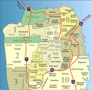 Map Of San Francisco Districts by San Francisco Map Of Districts