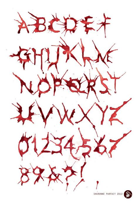 tattoo font blood 17 best images about typography and illustration on