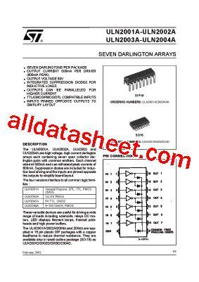Uln2003a uln2003a datasheet pdf stmicroelectronics