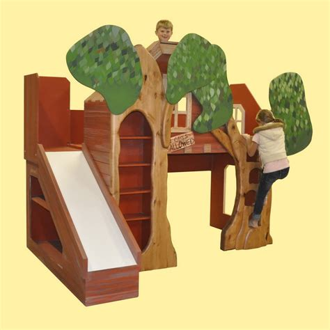 Backyard Cottage Plans Trevor S Treehouse Bunk Bed And Indoor Playhouse