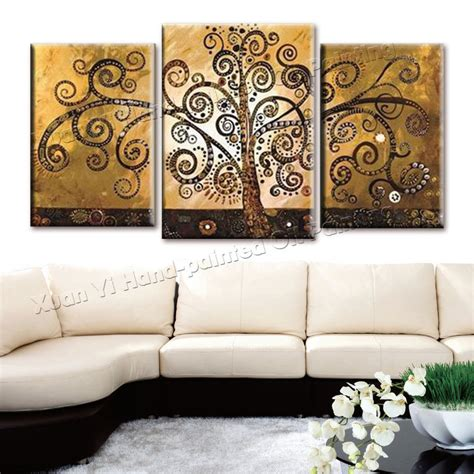 aliexpress com buy unframed 3 sets abstract tree modern canvas wall art home wall decor hd 3 piece canvas wall art hand painted canvas abstract oil