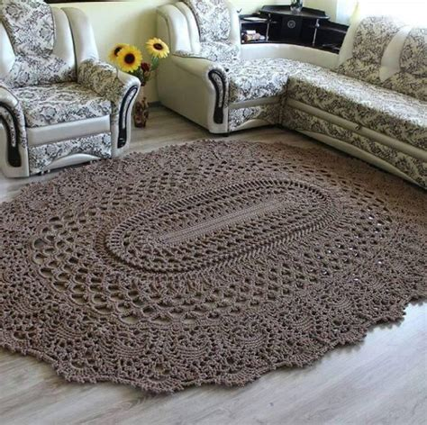 Crochet Brown Rug Brown Rug Crochet And Brown Crochet Rug Pattern
