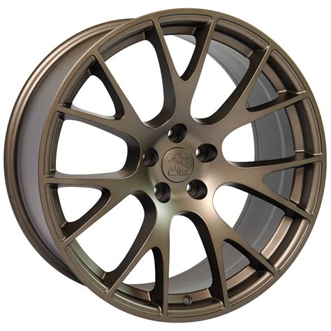 charger hellcat wheels 20 quot dodge hellcat wheel replica bronze 20x9 set