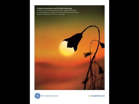 """GE Solar Energy Technology: """"Sun Lamp"""" Print Ad by BBDO"""