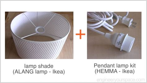 Ikea Pendant Light Kit Ikea Hack Easy Diy Pendant L With Alang L Shade Smart Diy Solutions For Renters