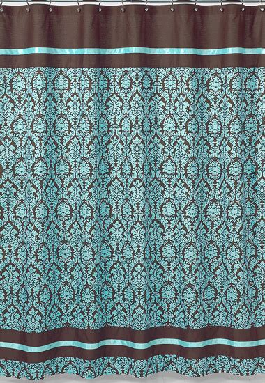 brown and turquoise curtains jojo designs bella blue turquoise brown damask girl teen